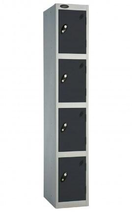 Probe 4 Door Locker 1780mm high black doors and silver body