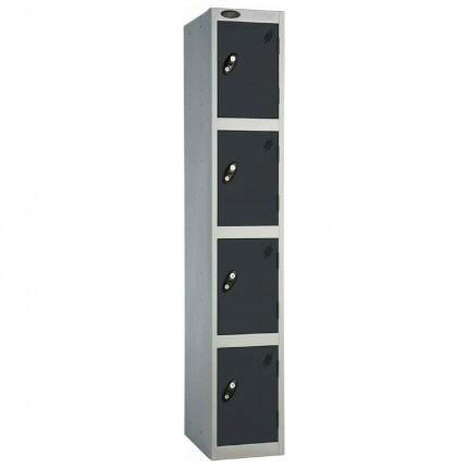 Probe 4 Door High Metal Locker Type L Electronic Lock Black