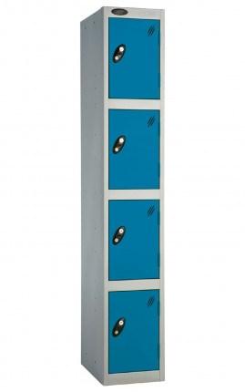 Probe 4 Door Locker 1780mm high blue doors and silver body