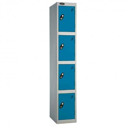 Probe 4 Door High Metal Locker Type L Electronic Lock Blue