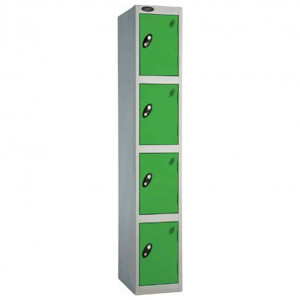 Probe 4 Door High Steel Storage Locker Padlock Hasp Lock - green door