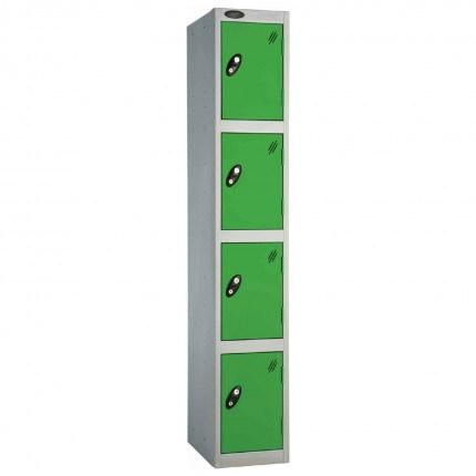 Probe 4 Door Handbag Size Steel Storage Locker Key Lock green