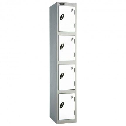 Probe 4 Door Handbag Size Steel Storage Locker Key Lock white