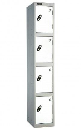 Probe 5 Door Locker 1780mm high white doors and silver body