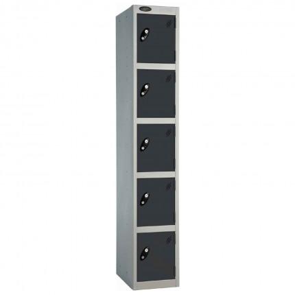 Probe 5 Door High Metal Locker Type L Electronic Lock black