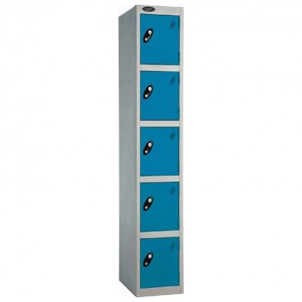 Probe 5 Door High Metal Locker Type L Electronic Lock blue
