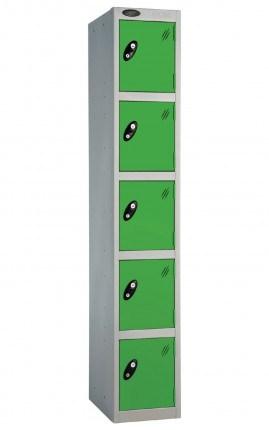 Probe 5 Door Locker 1780mm high green doors and silver body