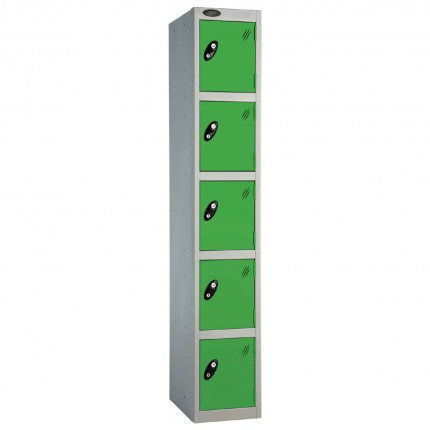 Probe 5 Door High Steel Storage Locker Padlock Hasp Lock - green door