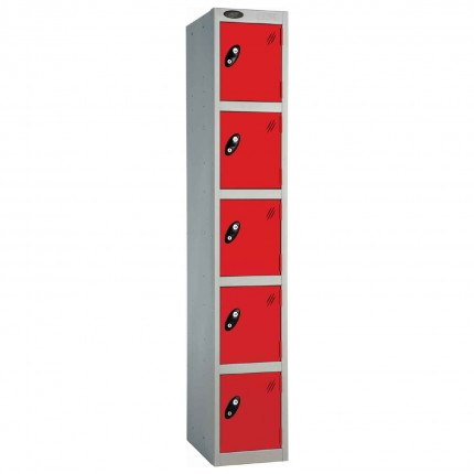 Probe 5 Door High Steel Storage Locker Padlock Hasp Lock - red door