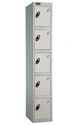 Probe 5 Door Locker 1780mm high silver doors and silver body