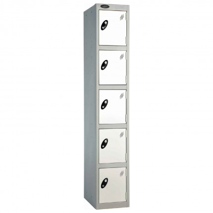 Probe 5 Door High Metal Locker Type L Electronic Lock white