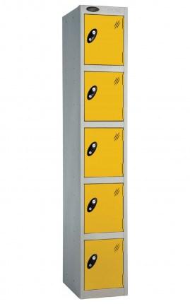 Probe 5 Door Locker 1780mm high yellow doors and silver body