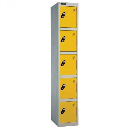 Probe 5 Door High Metal Locker Type L Electronic Lock yellow