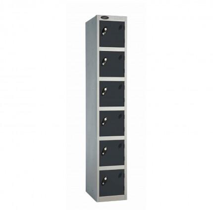 Probe 6 Door High Steel Storage Locker Padlock Hasp Lock - black door