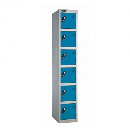 Probe 6 Door High Steel Storage Locker Padlock Hasp Lock - blue door