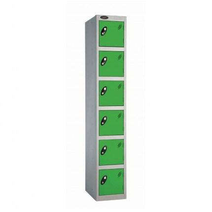 Probe 6 Door High Steel Storage Locker Padlock Hasp Lock - green door