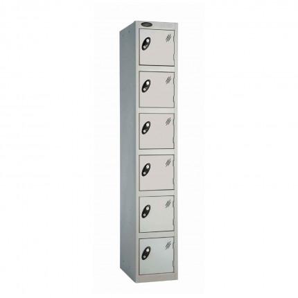 Probe 6 Door High Steel Storage Locker Padlock Hasp Lock - silver grey