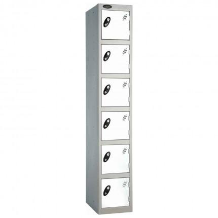 Probe 6 Door High Steel Storage Locker Padlock Hasp Lock - white door