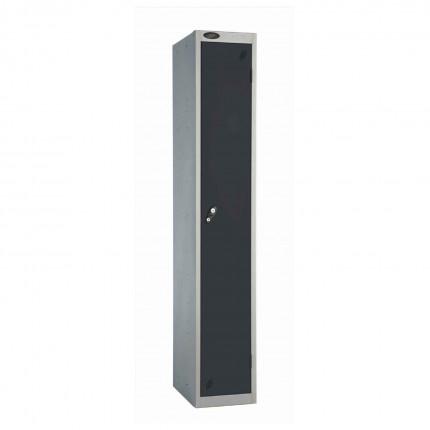 Probe 1 Door High Steel Storage Locker Key Locking black