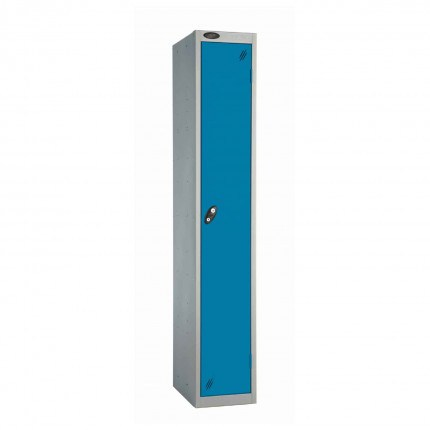 Probe 1 Door High Steel Storage Locker Padlock Hasp Lock - Blue door