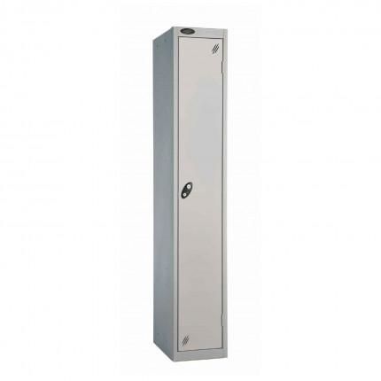 Probe 1 Door High Steel Storage Locker Padlock Hasp Lock - silver grey door