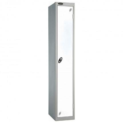 Probe 1 Door High Steel Storage Locker Key Locking white
