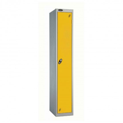Probe 1 Door High Steel Storage Locker Padlock Hasp Lock - yellow door