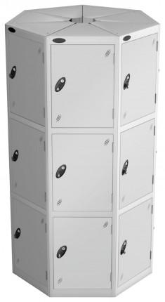 Probe 33 Compartment Retail Locker Pods - grey