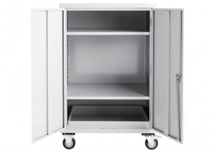 Bedford 81FA996 Heavy Duty Mobile Steel First Aid Cabinet  - open