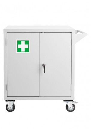 Bedford 81FA996 Heavy Duty Mobile Steel First Aid Cabinet