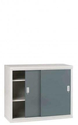 Sliding Door Welded Steel Cabinet 102x122x46 - Bedford 84024
