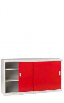 Sliding Door Welded Steel Wide Cabinet 102x183x46 - Bedford 84084