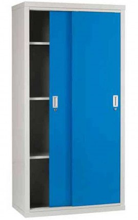 Sliding Door Welded Steel Cabinet 183x92x46 - Bedford 84894