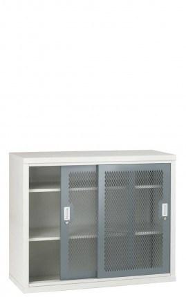 Steel Mesh Sliding Door Cabinet 1020x1220x460 - Bedford 84MD024