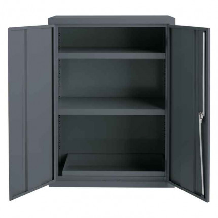 Bedford 88F294G Grey Flammable Welded 1220H mm Cabinet - doors open