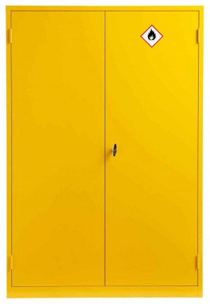 Wide Flammable Welded COSHH Cabinet - Bedford 88F824 - Doors Cloded