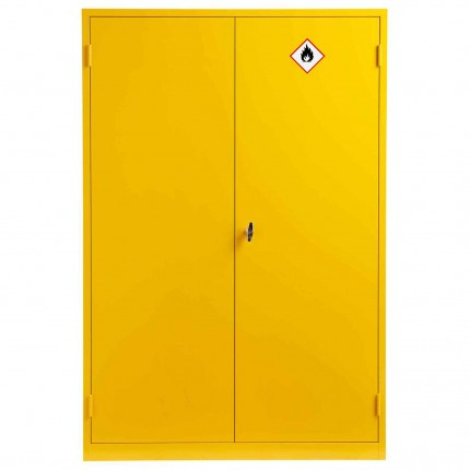Wide Flammable Welded COSHH Cabinet - Bedford 88F824 - Doors Closed