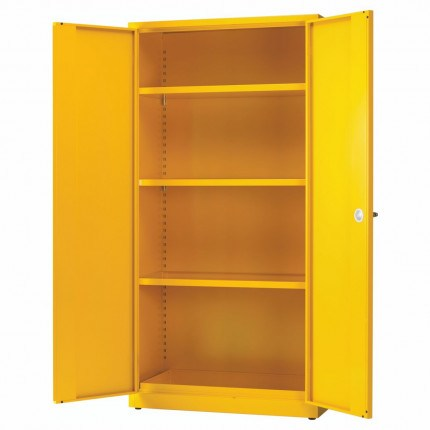 Bedford Flammable Hazardous 894 Cabinet  - Doors Open