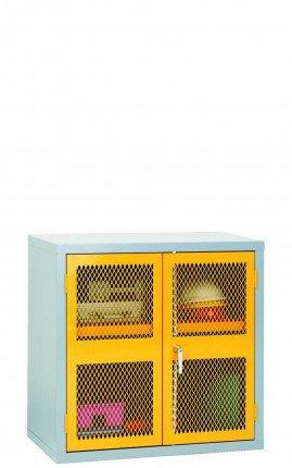 Steel Mesh 2 Door Welded Cabinet 915x915x460 - Bedford 88MD994