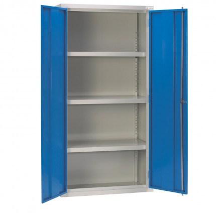 Bedford 88W894 Fully Welded 2 Door High Steel Storage Cabinet - Doors open