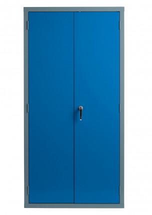 Bedford 88W894 Fully Welded 2 Door High Steel Storage Cabinet - Doors closed