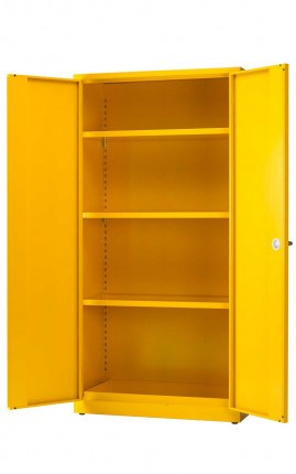 Heavy Duty Flammable Hazardous Cabinet - Bedford 85Y895 - open