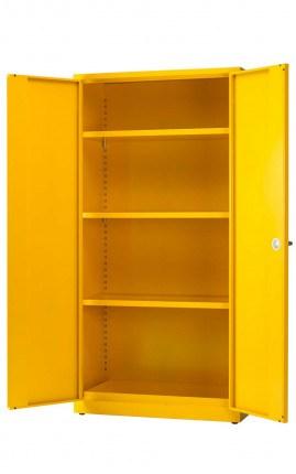 Heavy Duty Flammable Hazardous Cabinet - Bedford 85Y895 - open