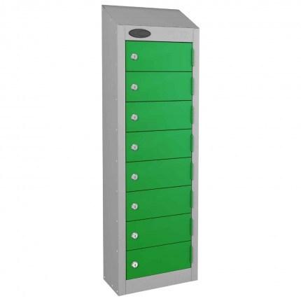 8 Door Key Locking Mobile Phone Locker - Probe Wallet - green