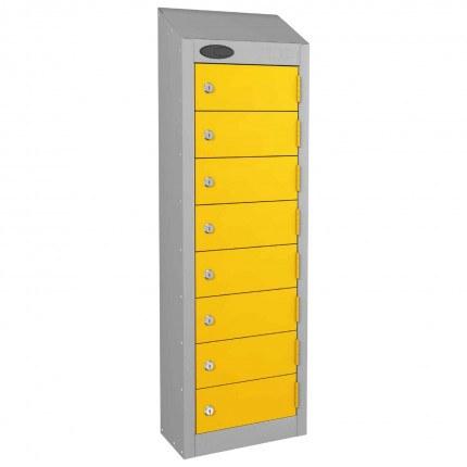 8 Door Key Locking Mobile Phone Locker - Probe Wallet - Yellow