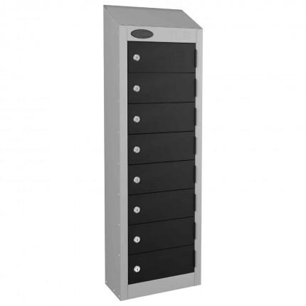 8 Door Key Locking Mobile Phone Locker - Probe Wallet - Black