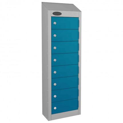 8 Door Key Locking Mobile Phone Locker - Probe Wallet - Blue