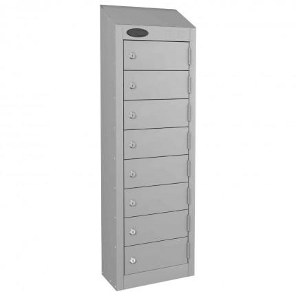 8 Door Electronic Locking Mobile Phone Locker - Probe Wallet - Silver Grey