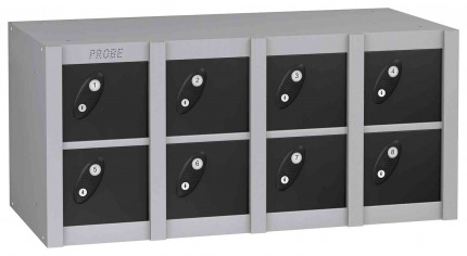 Probe MINIBOX 8 Door Key Locking Phone Locker black