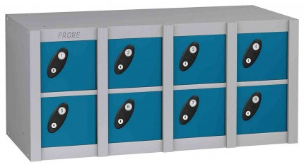 Probe MINIBOX 8 Door Key Locking Phone Locker blue